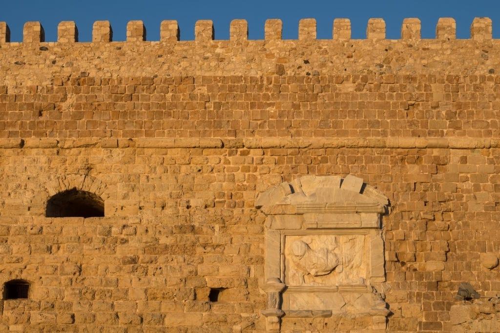 Wall of Venetian Fortress in Heraklion